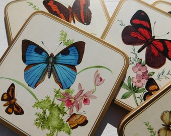 Vintage Pimpernel Butterfly Coasters