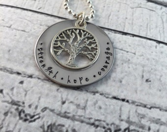 The best moms are promoted to grandma personalized, hand stamped necklace with names and birthstones