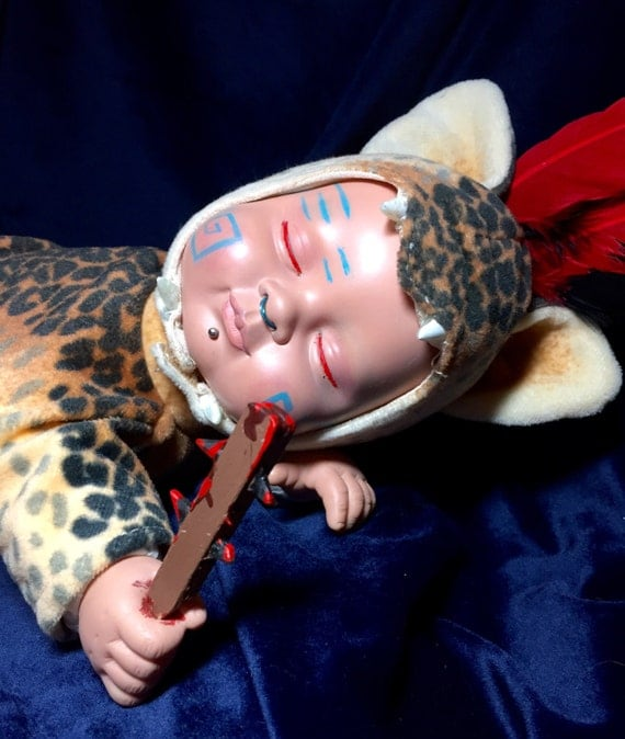 Cav Ocelot Original Undead Aztec Jaguar Knight Sleeping Warrior With Weapon Zombie Biohazard Baby