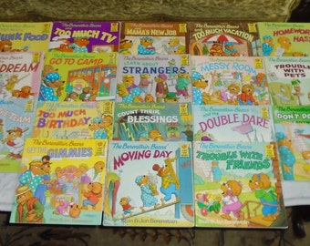 18 Berenstain Bears First Time Softcover Kids Books Set Lot from 1980s