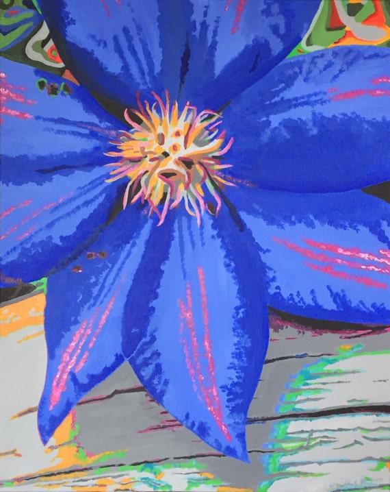 "Acrylic painting called ""Feeling Blue!"""