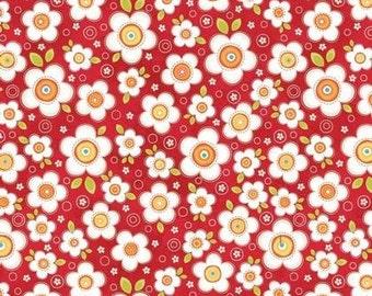 ADORNit! - Crazy Daisy Cherry 100% cotton