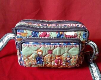 Handmade Farmer's Family Handbag, Shoulder Bag Canvas, Suitable for teenage girls and working women, for casual dress.