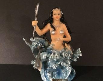 Free shipping Yemaya Olocun Orisha of the Sea Mermaid 6 inches
