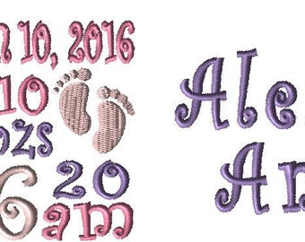 TWO Birth Announcement Custom Embroidery Design - IF You Need a custom design just let me know