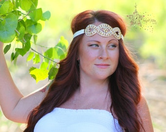 jewelry headband - quinceanera headband - vintage bridal headbands - Goddess Headband - gold crystal headband - Gold headpiece Jewelry