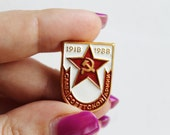 Vintage pin, Glory to the Soviet army - ussr vintage pin