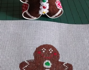 handpainted gingerbread cookie cutter canvas and cutter with or without finishing included