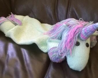 Hand Knitted Unicorn Pyjama Case