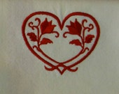 Heart Dish Towel Valentine Dish Towel Valentine Dishtowel Heart Dishtowel Heart Tea Towel