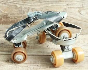 Vintage Soviet Metal Rollerskates ... rollfast ... new condition