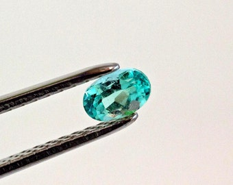 7 X 5mm Oval Cut Natural Colombian Emerald Loose Gemstone