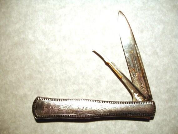 American Coin Silver Fruit Knife Circa 1880
