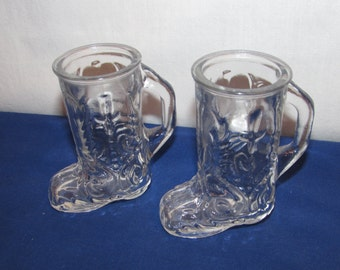 COWBOY BOOT SHOT Glasses Set of 2 Made in Canada