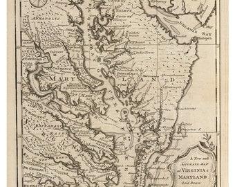 Maryland County Map Etsy - Maryland county map