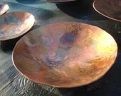 Copper Dish Hammered Copper Bowl Copper Vessel Copper Anniversary Gift Copper Plate Gifts for Men Copper Gift 7th anniversary gift forged