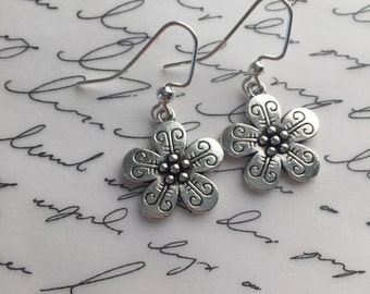 Delicate flower earrings