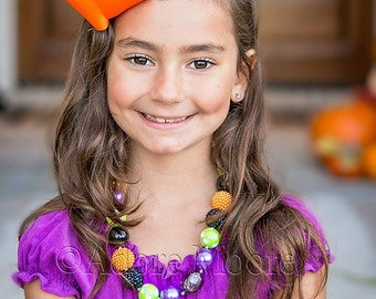 M2M Corinna Couture Necklace, Halloween Necklace, Kids Chunk Bead Necklace