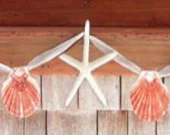 Seashell Garland, Starfish Garland, Shell Strands, Starfish, Seastars, Beach decor, Seashells
