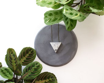 marbled concrete drop triangle
