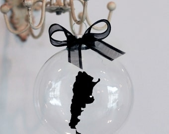 Argentina Christmas Ornament. Custom, Adoption, Travel, Mission