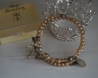FREE SHIPPING, Vintage, My Rosary Bracelet
