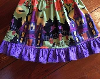 Girls Halloween Skirt/Halloween Skirt/Twirly Halloween Skirt/Girls Skirt