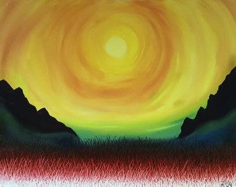 Sun Field//16x20// //Yellow//Oil Painting
