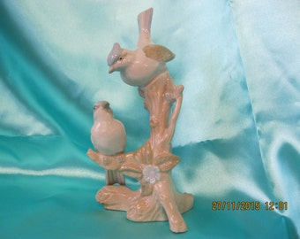 Vintage  titmouse ceramic bird figurine used