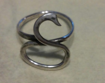 Handwrought Signed Sterling Beastie Ring Nessie