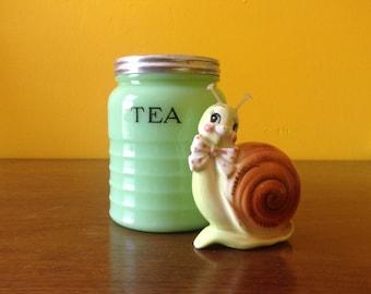 Jadeite Tea Canister Jar