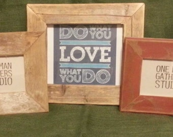 Reclaimed wood frame 4 x 6