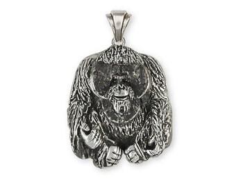 Orangutan Monkey Pendant Handmade Sterling Silver Jewelry OG1-P