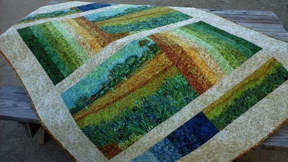 Handmade Quilt Throw Vincent Van Gogh By Mojofabricsandquilts