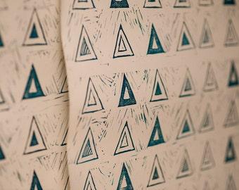 Wallpaper_Handmade_Triangles_Block printed_ Bohemian_Paper