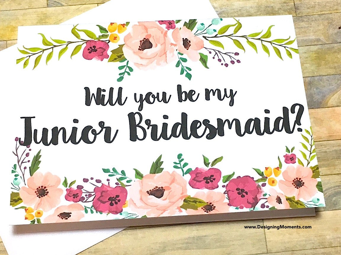 Bridesmaid Proposal Card Will You Be My Junior Bridesmaid