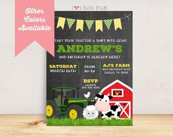 Barnyard Birthday Invitation - Custom - Printable Digital File