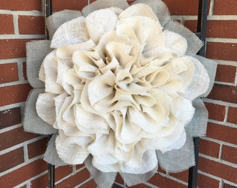 Burlap Wreath, Marigold Wreath, Fall Wreath, Autumn Wreath, Handmade Wreath, Shabby Chic, Front Door Wreath, Fall Decor, Marigold