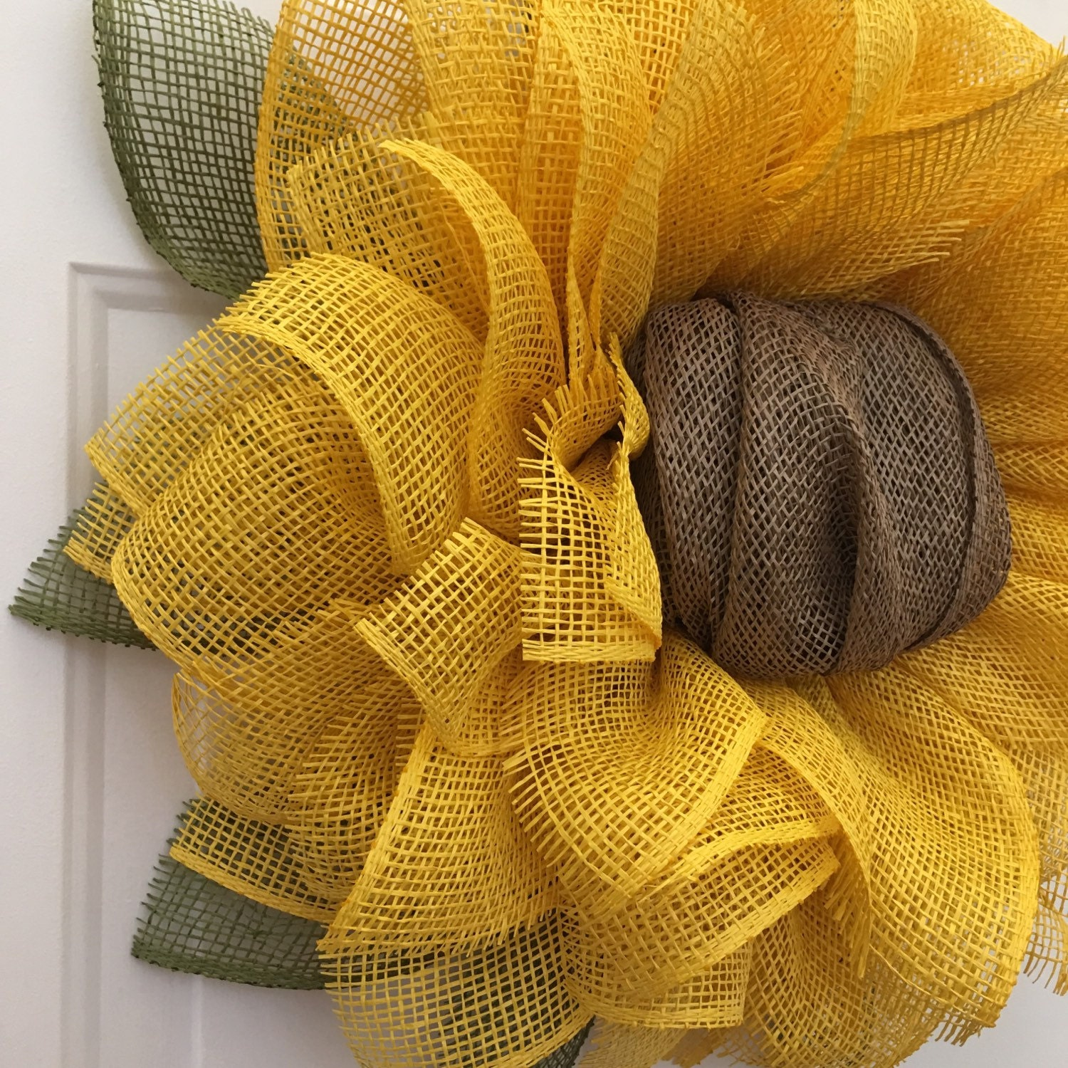 Sunflower Wreath Sunflower Burlap Wreath By