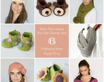 You Choose Any 6 Crochet Patterns