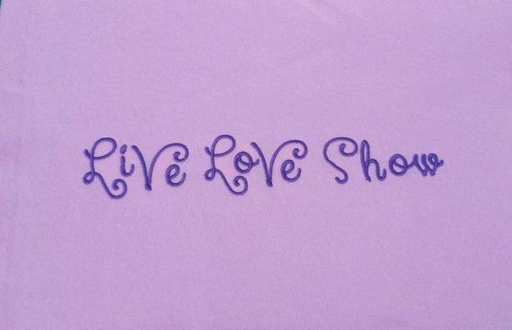 Embroidered custom t-shirt - livestock shower t-shirt - Live Love Show embroidered t-shirt - Custom colors