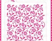 Pochoir pour les biscuits et petits gâteaux, floral swirl motif MC032-L