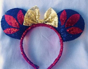 Snow White Disney Minnie Mouse Ears Headband