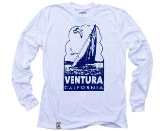 Ventura Sailboat: Organic Fine Jersey Long Sleeve T-Shirt