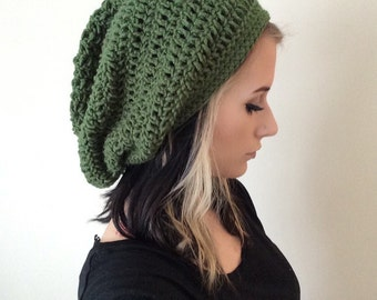 Super Slouch Solid Beanie - Choose You Color! | ABCrochet, Womens, Slouch Beanie, Slouchy, Hair, Accessories, Fall, Winter, Warm, So