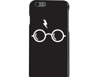Hard Snap-On Case for Apple 5 5S SE 6 6S 7 Plus - CUSTOM Monogram - Any Colors - Potter-inspired Glasses
