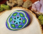 Seed of Life - Sacred Geometry Painted Rock