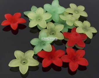 Lucite Flower Beads MIX 18PCS