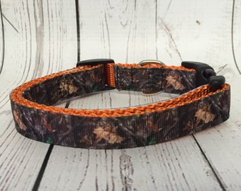 "5/8"" and 3/4"" Mossy Oak Dog Collar little dog"