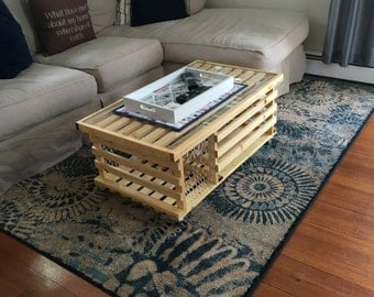Poly'd Wooden Lobster Trap Coffee Table Made in USA Free Shipping!